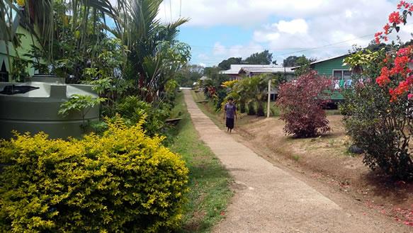 Main walkway through the village