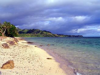 A Coral Coast beach