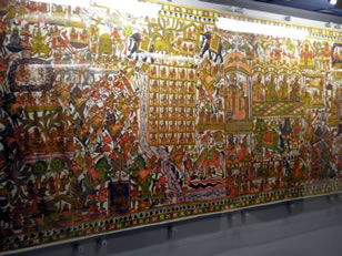 wall hanging Fiji museum exhibit