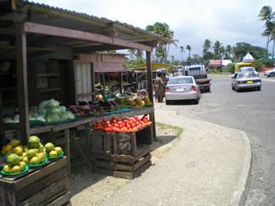 Fiji roadside produce stall