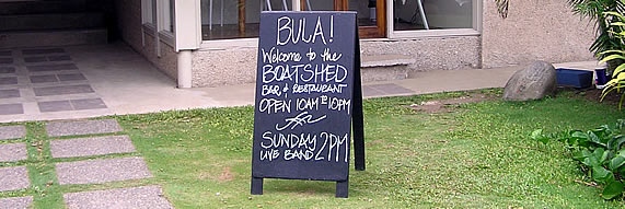 Boatshed bar and restaurant