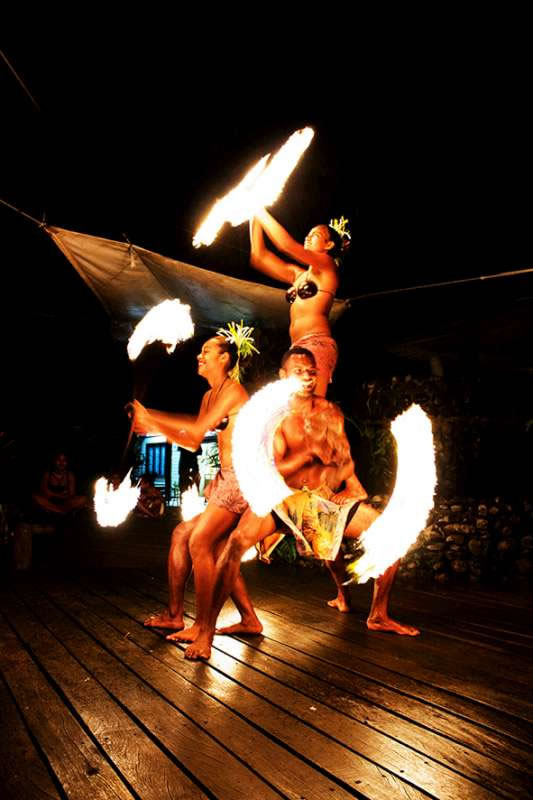 Fri & Sat nights in the restaurant, is the free Polynesian firedance show