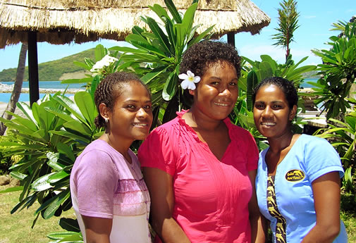 Housekeeping girls at Golden Point