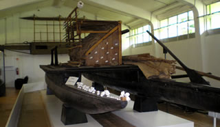 double hulled canoe exhibi