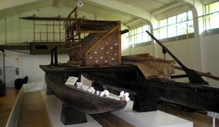 double hulled canoe exhibi