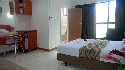 bedroom at the Nadi Downtown hotel
