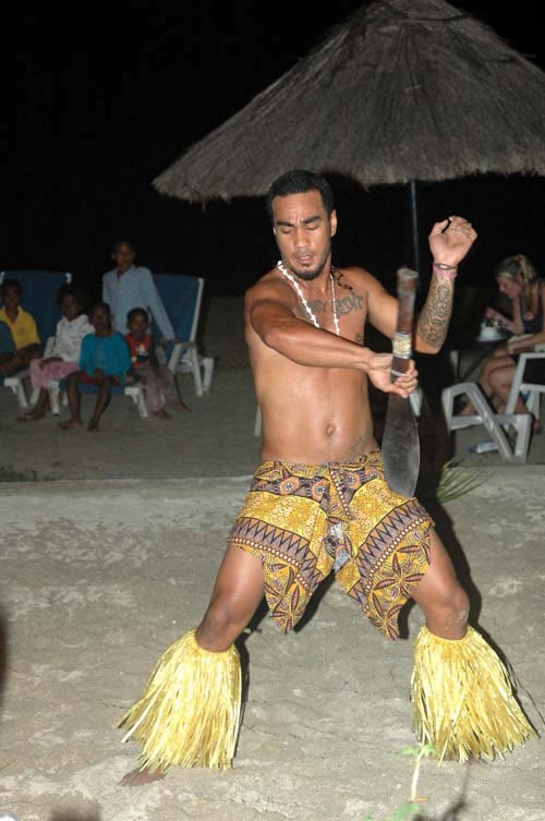 A Polynesian knife dance