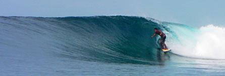 Surfing at Qamea