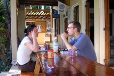 dinner at Safari island lodge