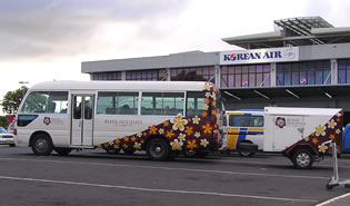 Shuttle at Nadi airport