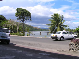 The footbrige that crosses the Sigatoka river