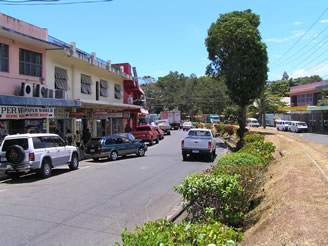 View of one of the main shopping roads in Sigatoka