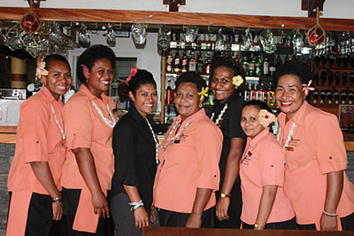 Some of the staff at Smugglers Cove