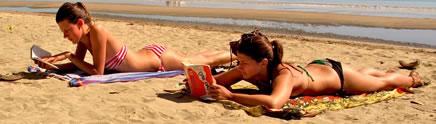 sunbathing on Wailoaloa beach