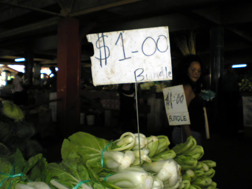 Plenty of the Chinese type veges for sale. Bok Choy for example