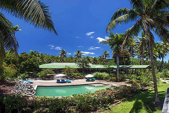Maravu, one of the resorts on Taveuni