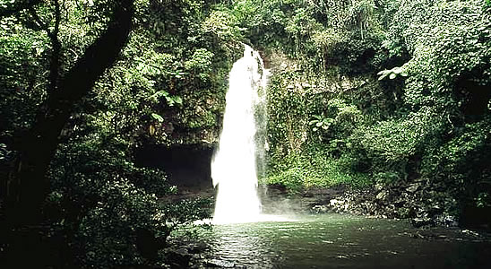 One of many waterfalls in Bouma National Park